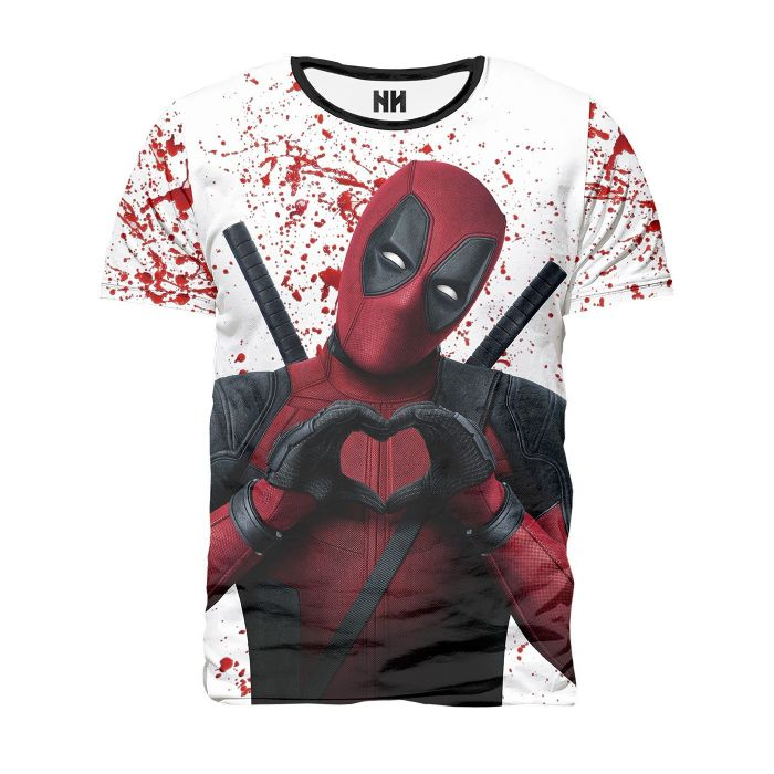Camisetas Deadpool blanca