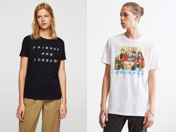 chico y chica con Camisetas FRIENDS