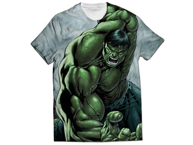 Camisetas Hulk estampada completa