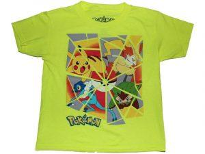 Camisetas Pokemon verde manzana