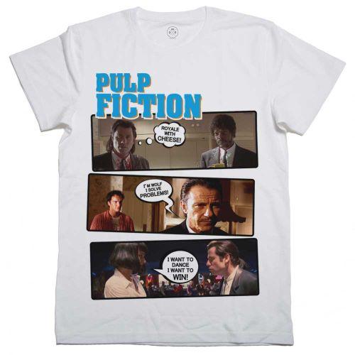 Camisetas Pulp Fiction con dialogo