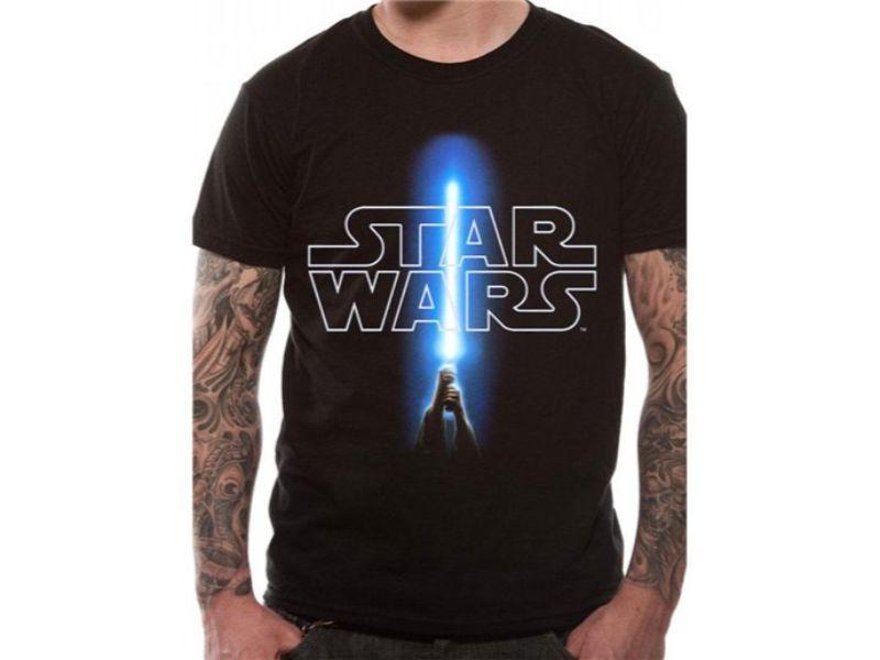 Camisetas Star Wars con rayo de luz