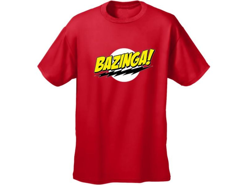 Camisetas The Big Bang Theory roja de bazinga