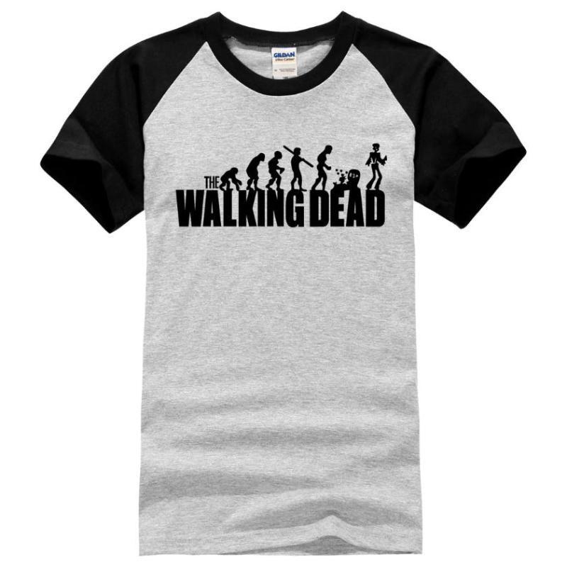 Camisetas The Walking Dead 2gris