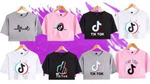 Camisetas Tik Tok variadas, comprar camisetas tiktok baratas para mujer y niñas