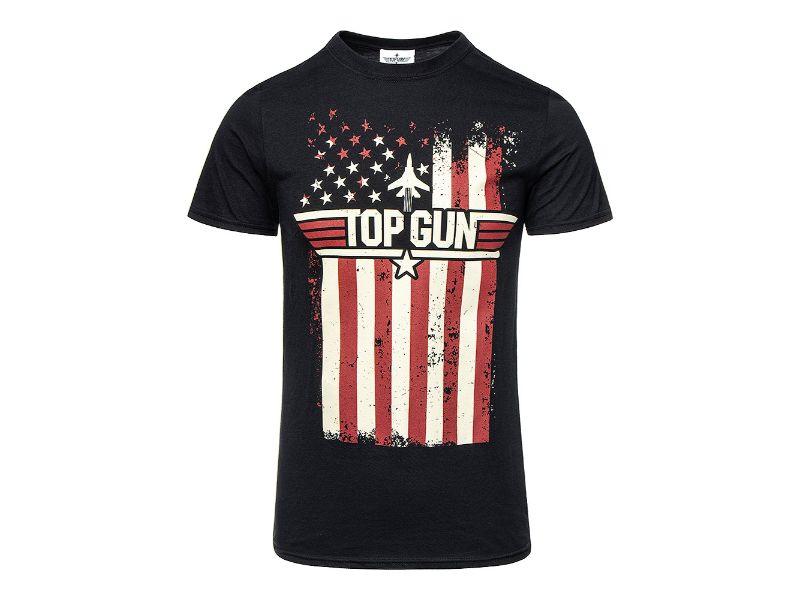 Camisetas Top Gun negra