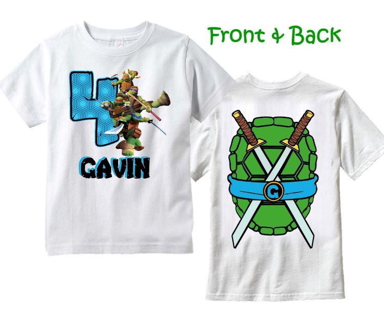 Camisetas Tortugas Ninja para cumpleaños