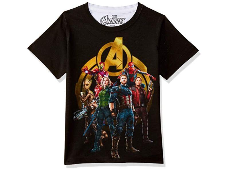 Camisetas Vengadores negra