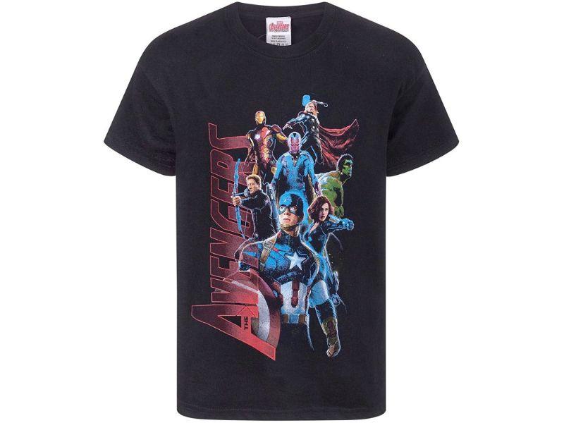 Camisetas Vengadores negra normal