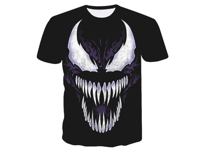 Camisetas Venom negra tenebrosa
