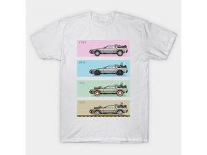 Camiseta regreso al futuro blancas de carros delorean