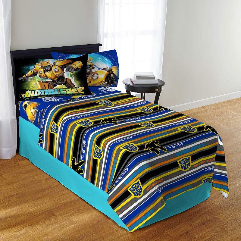 Sabanas Transformers para cama infantil