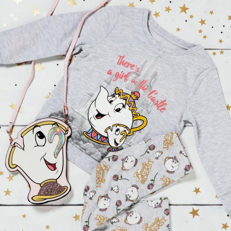 pijama de la bella y la bestia, pijamas taza potts