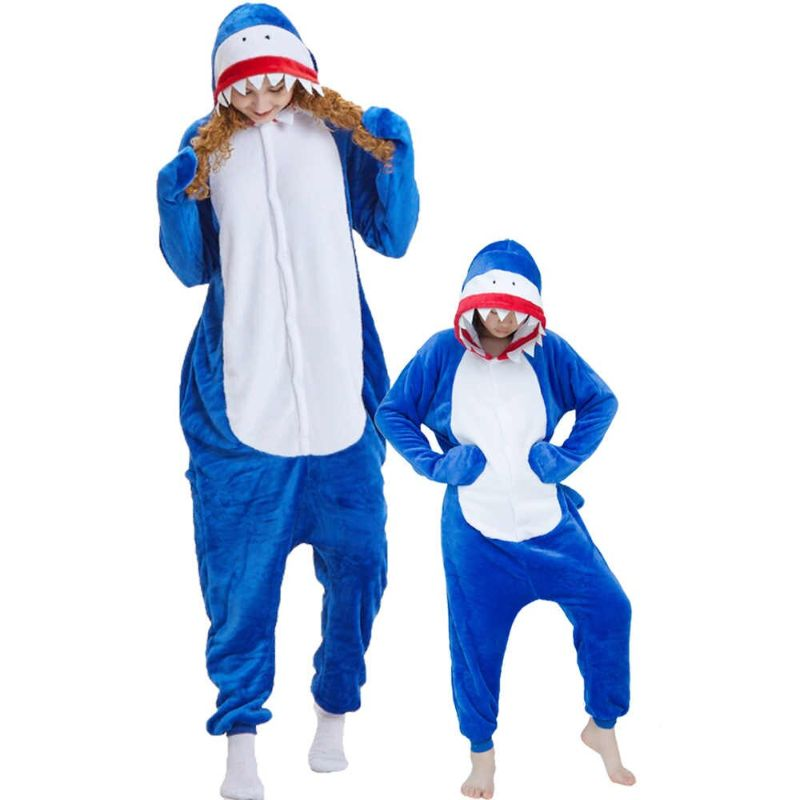 mama hijo pijama tiburon
