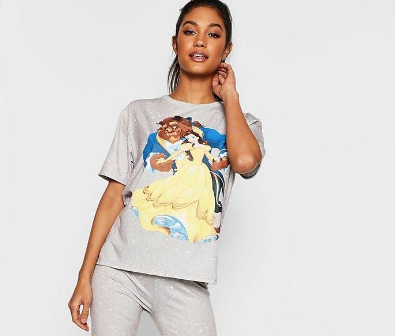 pijama gris bella y bestia