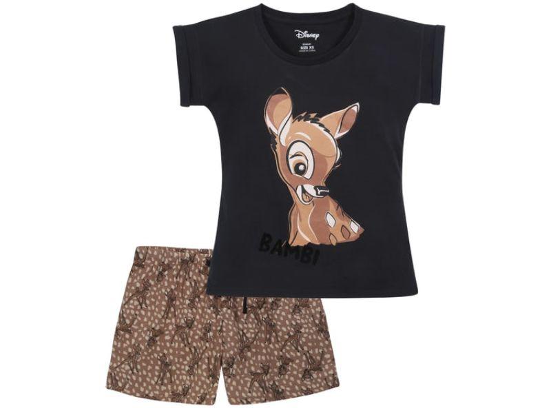 pijama de bambi marrón y negra