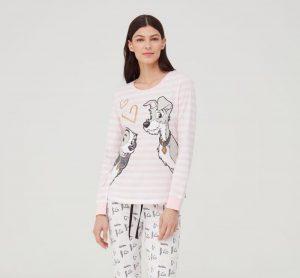 mujer con pijama de la dama y el vagabundo