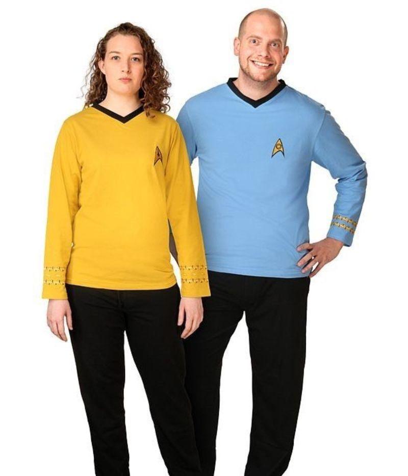 pareja con pijama de star trek