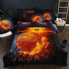 comprar sabanas de baloncesto, edredón de baloncesto, colchas de basket ball y ropa de cama