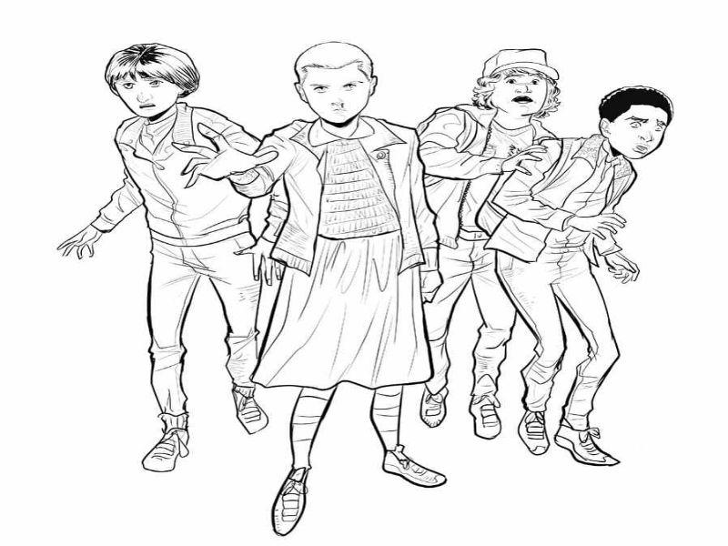 Imágenes y dibujos de stranger things para colorear con creatividad