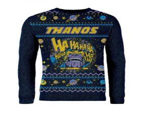 jersey friki navideño de thanos, elige el tejido adecuado