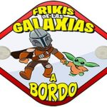 Pegatina bebé a bordo friki star wars