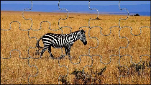 Puzzles de animales para adultos de cebras para la relajacion
