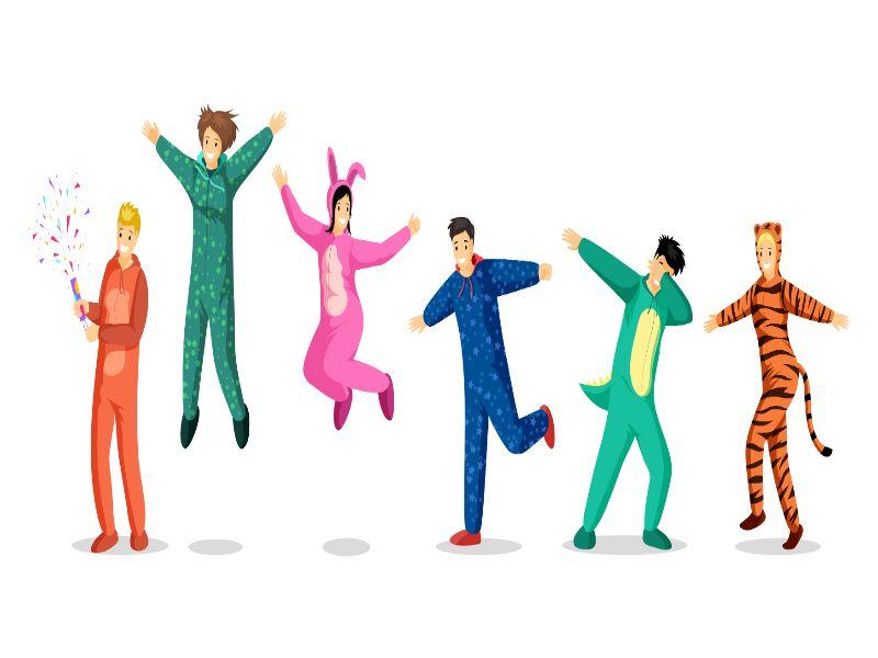 amigos en pijamada (que hacer en una fiesta de pijamas)