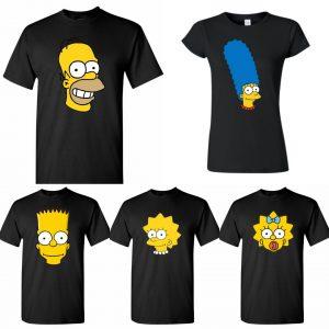 comprar camisetas de los simpsons para hombre mujer y niños