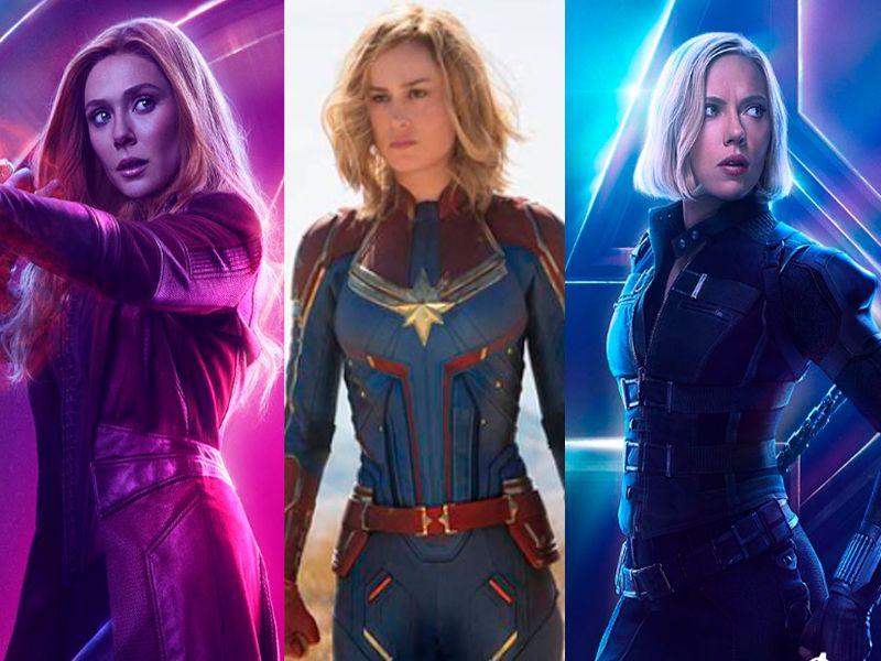 personajes de marvel mujeres populares