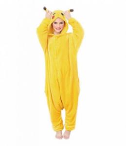 comprar pijamas pokemon para mujeres, pijama entero pokemon de pikachu