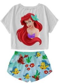 comprar pijamas para mujeres y niñas de la sirenita