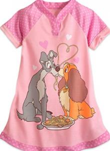 pijamas de la dama y el vagabundo baratos para niñas