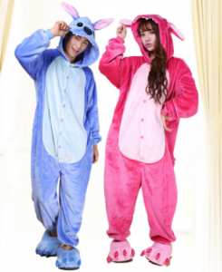 comprar pijamas para parejas de Lilo & stitch baratos kigurumi