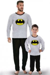 pijamas familiares de batman, pijamas batman para niños, padre e hijo