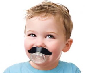 chupetes frikis de bigotes para bebés varones y hembras niños y niñas