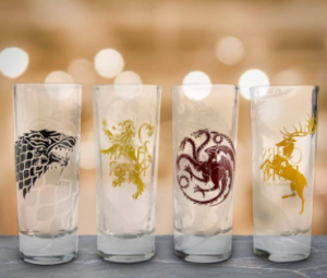 Vasos para beber chupito con diseño de Juego de tronos