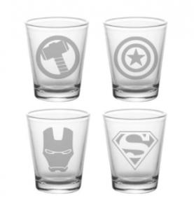 comprar vasos de chupito originales, vasos de chupitos frikis y divertidos originales para beber shots en fiestas superheroes marvel