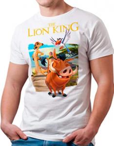 Comprar camiseta de El Rey León para hombre, camisetas baratas rey leon para hombres