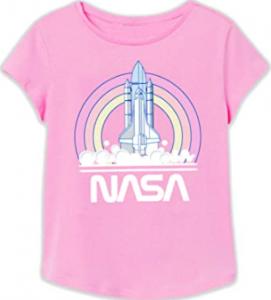 Modelos de camisetas para niñas con el logo de la NASA