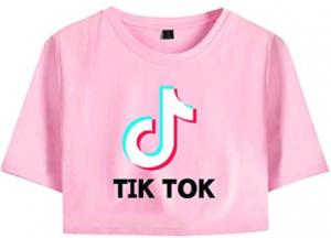 Camiseta de tik tok rosada para mujer o niñas