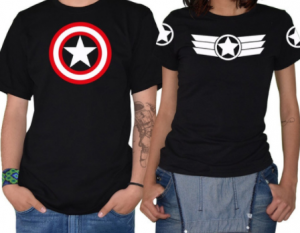 Compra unas camisetas de Capitán América para pareja