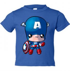 Camisetas del capitán américa Infantiles para niños o niñas