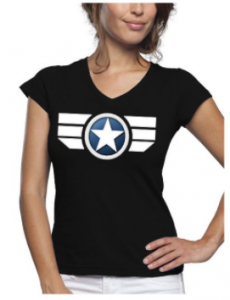 Comprar una camiseta de el Capitán América para mujeres