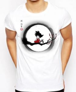 Camisetas de Dragon Ball z blancas, camiseta dragon ball z color blanco