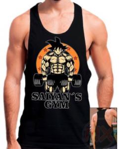 Camisetas para el Gym de Dragon ball z, camiseta gimnasio dragon ball barata para hombre o mujer