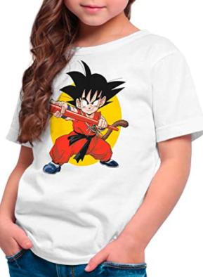 Comprar camisetas de Dragon Ball para niñas, camiseta dragon ball z para niña