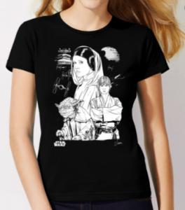 Comprar una camiseta de Star Wars para mujer, camisetas de Star Wars guerra de las galaxias para mujer a buen precio