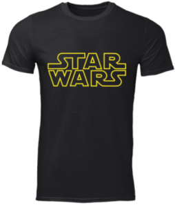 Camisetas con el logo de Star Wars en oferta, comprar camiseta de Star Wars con su logo de letras