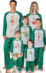 comprar pijamas familiares del grinch, pijamas del personaje grinch para toda la familia primark h&m corte ingles